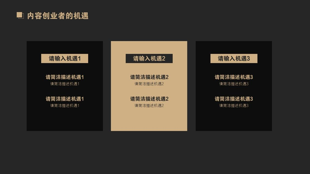 網紅孵化公司MCN文化傳媒行業商業計劃書PPT模板-內容創業者的機遇