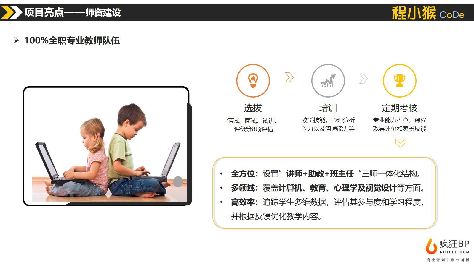 [程小猴]在線少兒編程steam教育素質教育商業計劃書模板范文-undefined